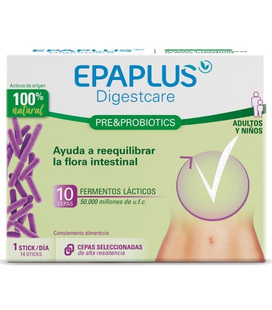 EPAPLUS DIGESTCARE PRE&PROBIOTICS ADULTO Y NIÑOS 14 STICKS