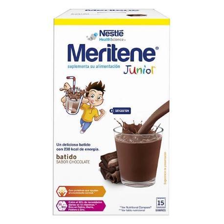 comprar MERITENE JUNIOR CHOCOLATE BATIDO 15 SOBRES , Infantil, Farmadina.com
