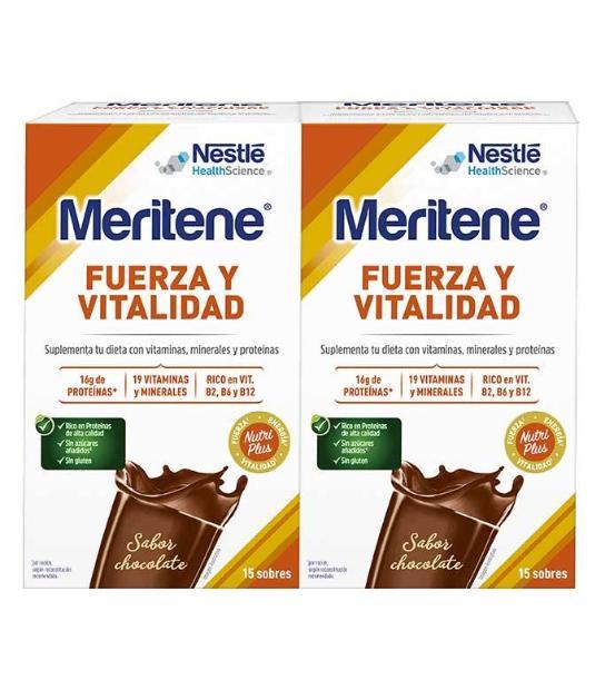 DUPLO MERITENE CHOCOLATE 15 SOBRES
