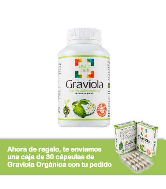 Comprar: GRAVIOLA 500MG 90 CAPSULAS AMAZON GREEN, Farmadina.com