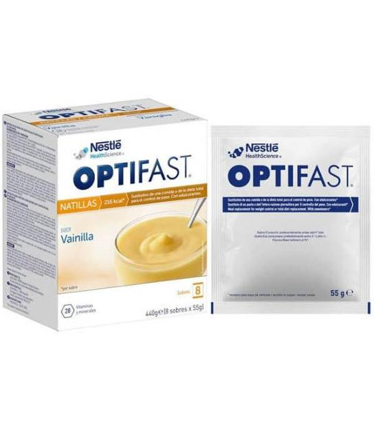 Comprar: OPTIFAST NATILLAS VAINILLA 9 SOBRES, Farmadina.com