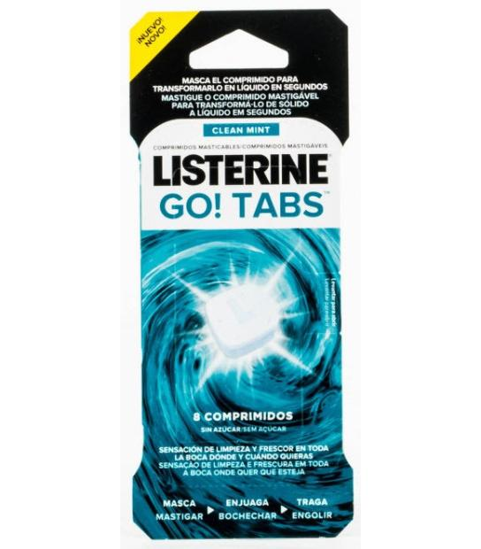 LISTERINE GO! TABS 8 UNDS.
