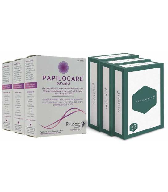PACK 3U PAPILOCARE + PAPILOXYL 3O CAPSULAS