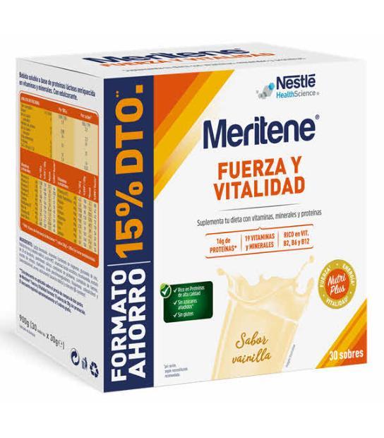 COMPRAR DUPLO MERITENE VAINILLA 30 SOBRES para tu alimentacion natural
