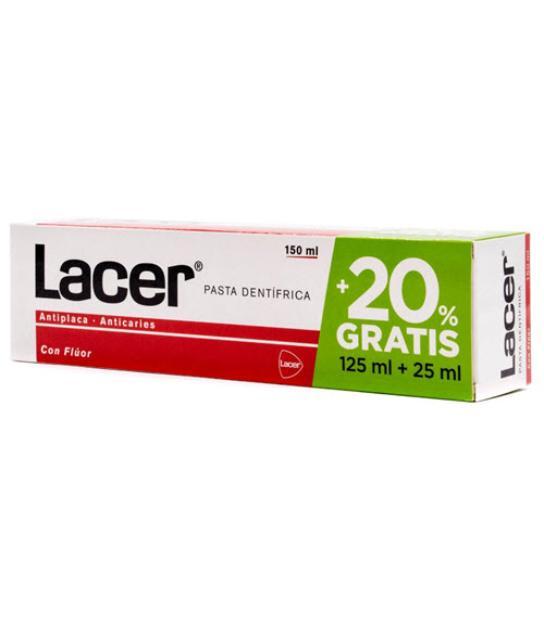 COMPRAR LACER PASTA DE DIENTES CON FLUOR 125ML+25ML