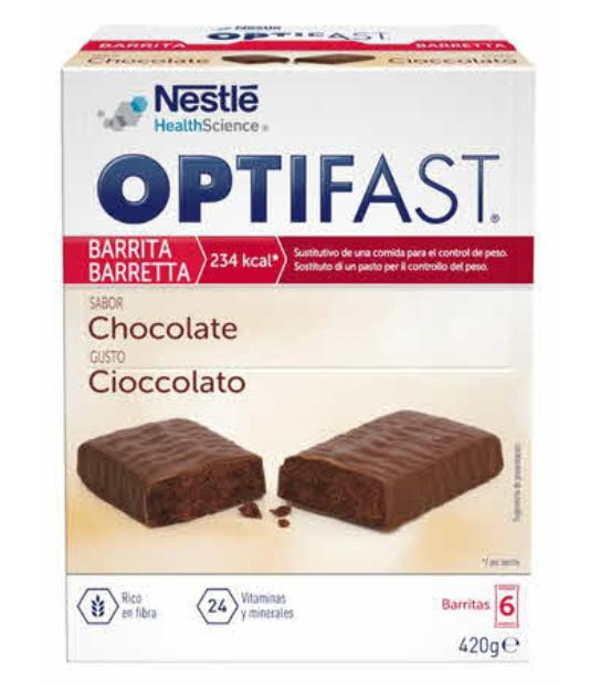 comprar BARRITAS CHOCOLATE 6 UNIDADES X 70GR OPTIFAST. En farmadina.com