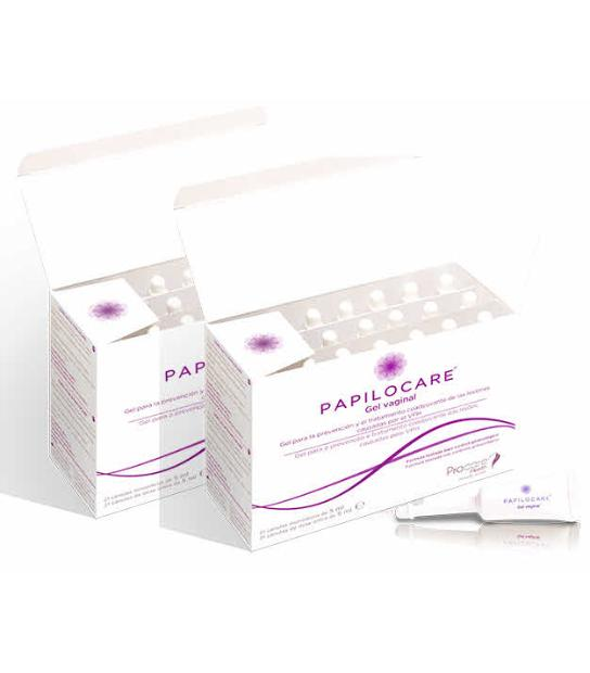 PACK 21X2 PAPILOCARE GEL VAGINAL 7 CANULAS 5ML - 42 canulas