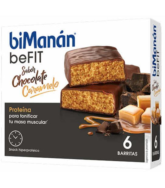 Comprar BIMANAN PRO BARRITAS CHOCOLATE CARAMELO. 6 BARRITAS