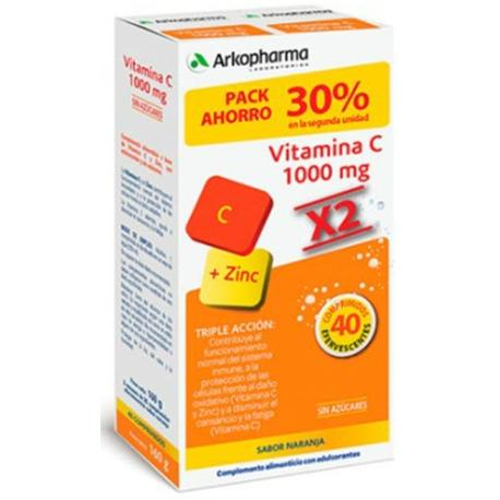 Comprar ARKOVITAL VITAMINA C 1000 MG + ZINC 40 COMP. EFERVESCENTES....
