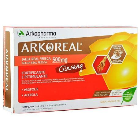 COMPRAR ARKOREAL GINSENG Y JALEA REAL PROPOLIS Y ACEROLA 500MG 20 AMPOLLAS