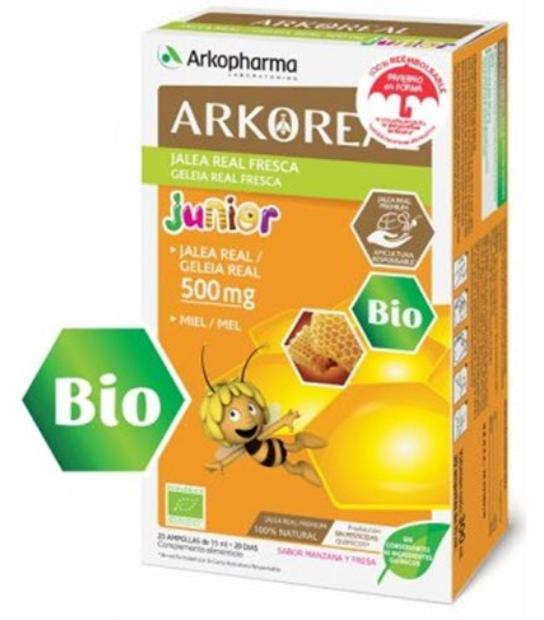 ARKOREAL JUNIOR JALEA REAL 500MG BIO 20 AMPOLLAS