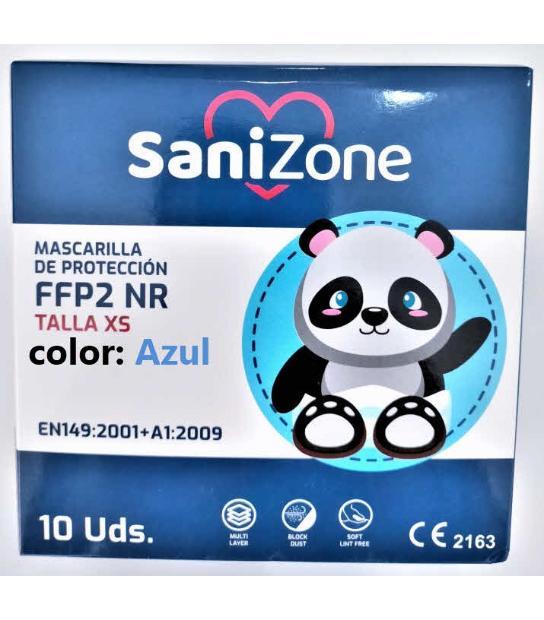 MASCARILLAS FFP2 INFANTIL HOMOLOGADA 10U AZUL