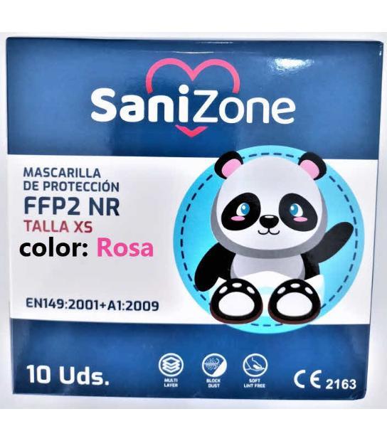 MASCARILLAS FFP2 INFANTIL ROSA HOMOLOGADA 10U