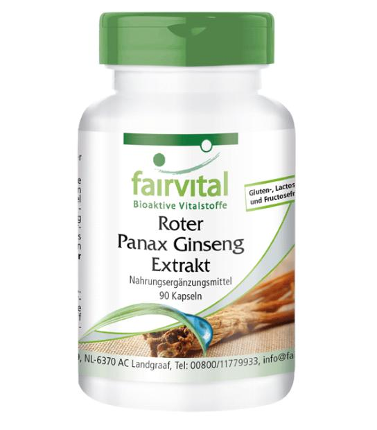 GINGENG PANAX EXTRACTO 400MG 90 CAPSULAS FAIRVITAL