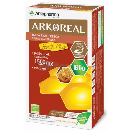 Comprar ARKOREAL JALEA REAL FORTE PLUS 1500 MG 20 AMPOLLAS