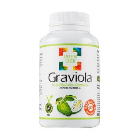 Comprar: GRAVIOLA 500MG 90 CAPSULAS AMAZON GREEN, Farmadina.com