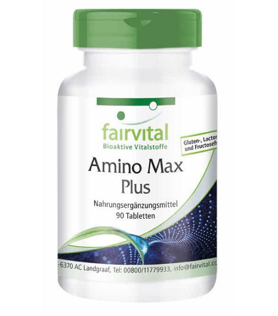 COMPRAR FAIRVITAL AMINO MAX PLUS 90 COMPRIMIDOS diseñado para deportistas y no deportistas. aminoacidos