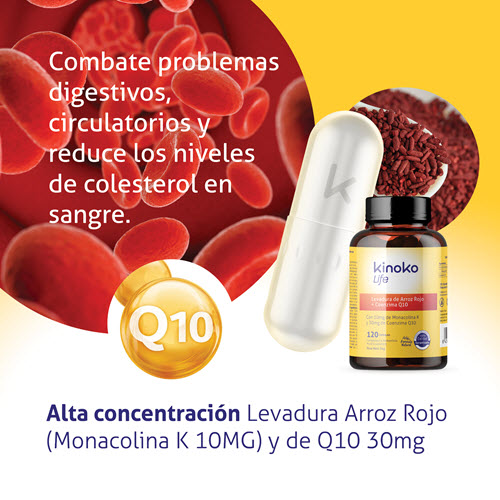 Levadura Arroz Rojo con Q10 30 mg